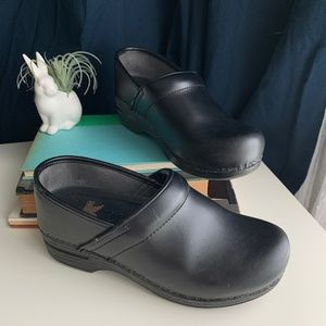 Dansko Professional Leather Clogs with Wedge Heel